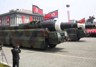 North Korea flaunts long-range missiles in...