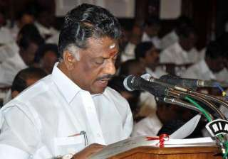 O Panneerselvam - India TV