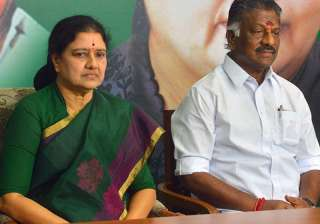 File pic of O Panneerselvam and VK Sasikala -...