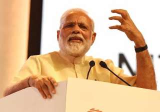 PM Narendra Modi speaks at an event in Nagpur -...