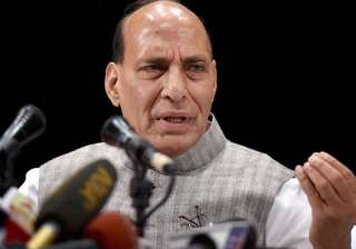 Rajnath Singh interacts with the media in Kolkata...