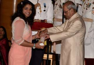 File pic - President confers Padma Shri on Sakshi...