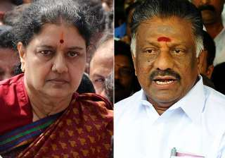 File pic of VK Sasikala and O Panneerselvam -...