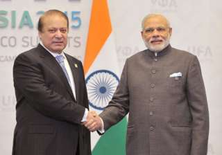 File pic of Nawaz Sharif and Narendra Modi -...