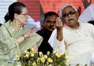 File pic of Sonia Gandhi and Nitish Kumar -...