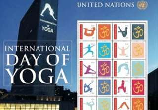 UN to issue 10 stamps of 'asanas' on...