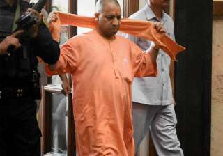 File pic - Adityanath arrives for a cabinet...