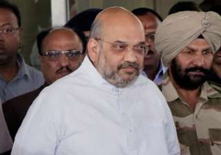 Amit Shah arrives at Nagpur Airport to visit RSS...
