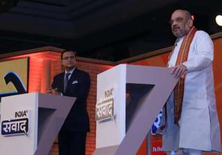 Rajat Sharma grills Amit Shah on sets if India...