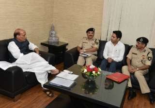 BSF exam topper with Home Minister Rajnath Singh...