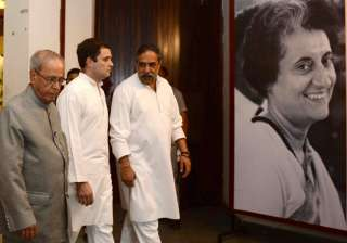 Pranab Mukherjee paid tribute to Indira Gandhi -...