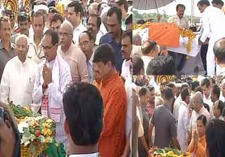 Union minister Anil Dave cremated - India TV