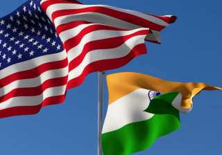 Flags of India and US - India TV