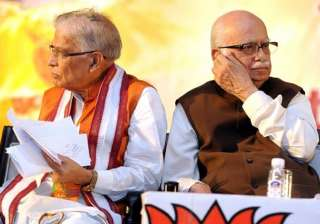 File pic of MM Joshi and LK Advani - India TV