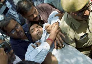 Kapil Mishra fell unconscious during a press...