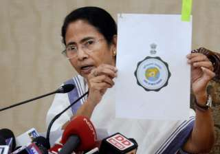 Mamata Banerjee speaks to reporters in in Kolkata...