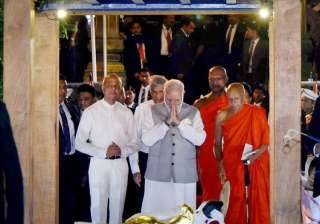 PM Modi prays at one of Sri Lanka's oldest...