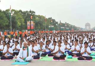 Modi at International Yoga Day - India TV