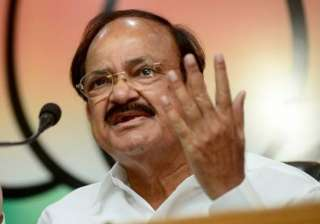 File pic of Union minister Venkaiah Naidu - India...
