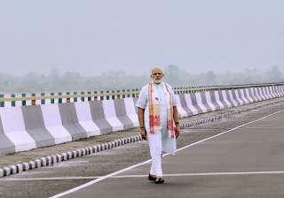 File pic - PM Modi at the newly inaugurated...
