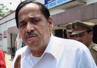 Expelled BSP leader Nasimuddin Siddqui outside...