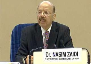 Nasim Zaidi addresses media in New Delhi - India...