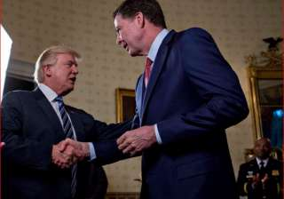 Donald Trump with James Comey - India TV