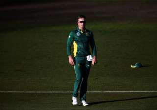 AB de Villiers of South Africa on the field -...