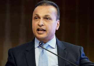 RCom Chairman Anil Ambani addressing a press...