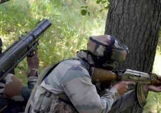 Four militants and an Army officer were killed in...