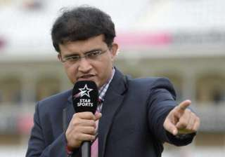 Former Indian captain Sourav Ganguly sharing his...