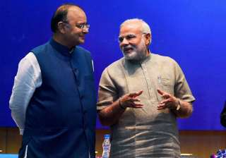 File pic of FM Arun Jaitley and PM Narendra Modi...