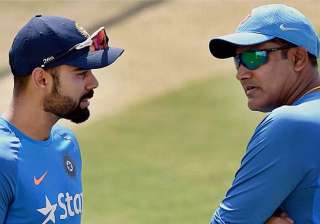 A file image of Virat Kohli and Anil Kumble. -...