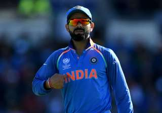 Captain Virat Kohli in action during India vs...