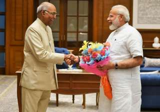 Ram Nath Kovind meets PM Modi in New Delhi -...