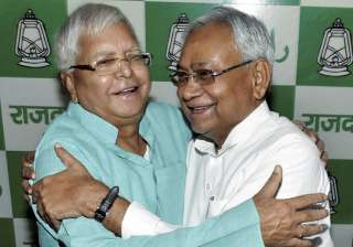 Nitish Kumar greets Lalu on his 70th birthday -...