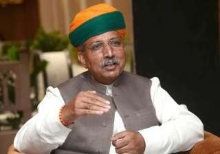 File pic - Arjun Ram Meghwal, Minister of State...