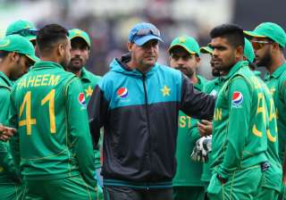 Mickey Arthur the Head Coach of Pakistan during...