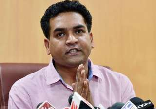 File pic of sacked Delhi minister Kapil Mishra -...