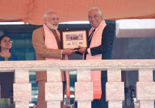 Modi presents OCI card to Portugal's...