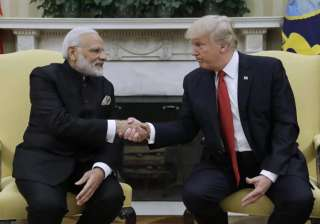 PM Modi meets Donald Trump at White House -...