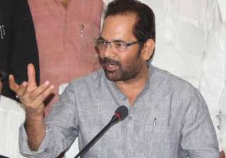 File pic of Union minister Mukhtar Abbas Naqvi -...