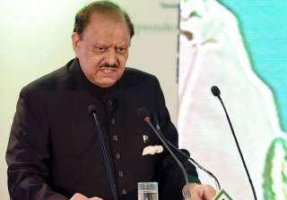File pic of Pak President Mamnoon Hussain - India...