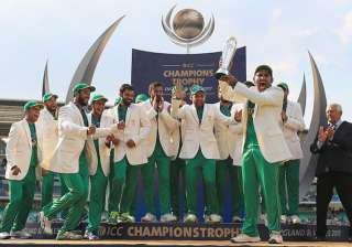 Pakistan celebrate their Champions Trophy 2017...