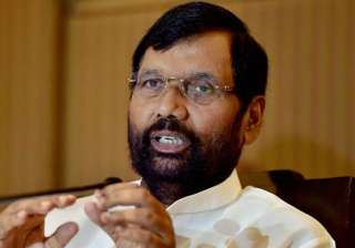 File pic of Union minister Ram Vilas Paswan -...