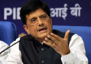 File pic of Union minister Piyush Goyal - India...