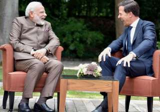 PM Modi meeting with Netherlands PM Mark Rutte at...