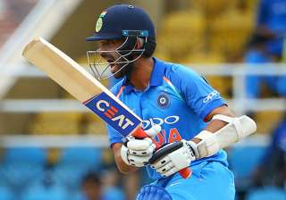 Ajinkya Rahane in action against West Indies in...