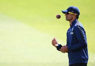 Rahul Dravid of India looks on during an India...
