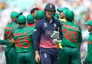 Jason Roy was dismissed for 1 in England's game...
